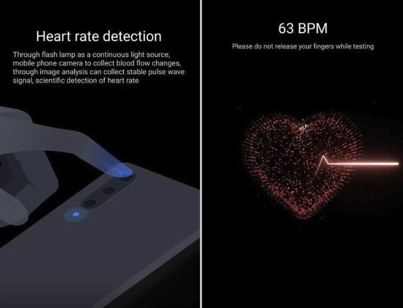 La apps Salud de Xiaomi™ puede detectar el ritmo cardíaco utilizando la cámara y el flash de usted teléfono