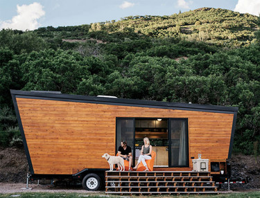 Una casa rodante hecha toda de madera que tu mismo podrías hacer