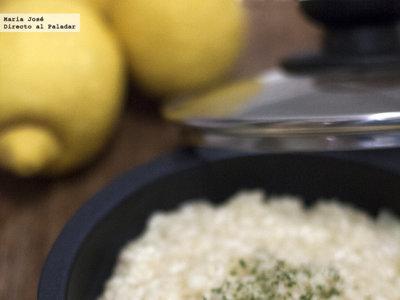 Risotto al limón. Receta