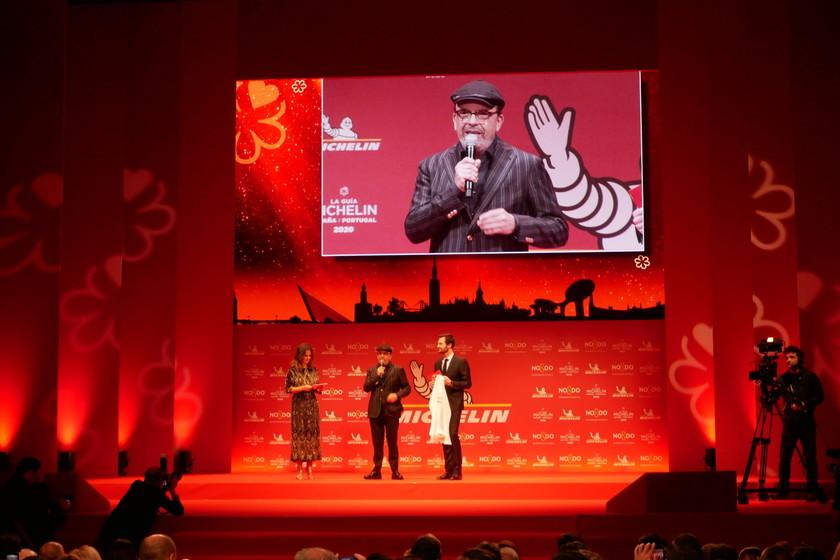 El restaurante cántabro Cenador de Amós celebra sus nuevas tres estrellas Michelin en una gala con menos premiados de lo esperado