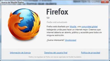 Firefox 5 listo para descargar