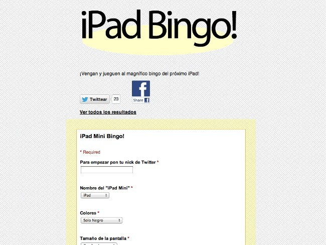 ipad bingo