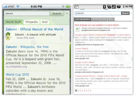 Google Custom Search llega a los teléfonos móviles