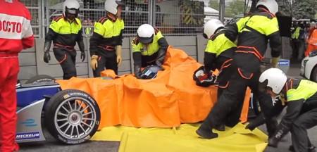 ¿Qué pasa cuando se estrella un Fórmula E?