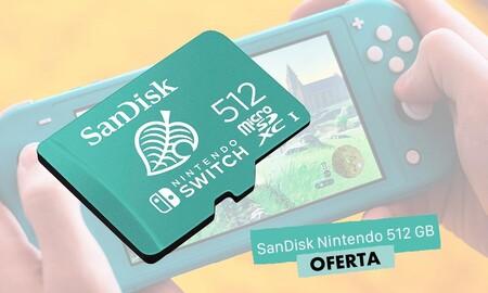 La tarjeta SanDisk para Nintendo de 512GB también está rebajada esta semana en Amazon: la tienes por 128,80 euros