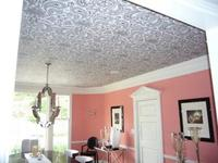 ¿Papel pintado en el techo?