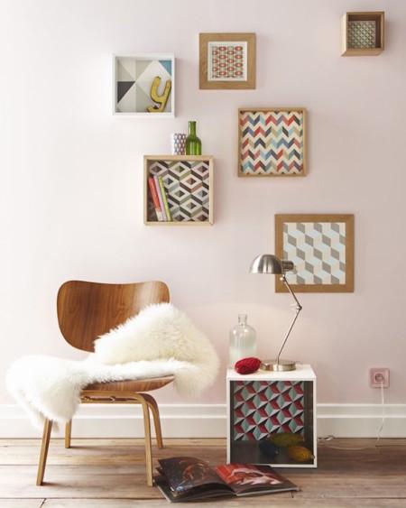 Jugando con las estanter as consigue espacio extra - Lo ultimo en decoracion de paredes ...
