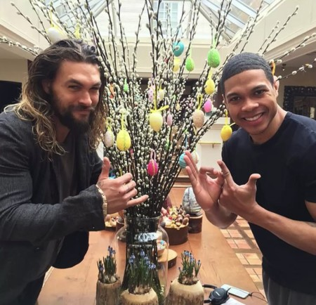 Jason Momoa y Ray Fisher