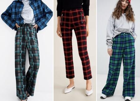 Pantalones Cuadros Rebajas