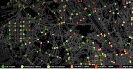 Así sería Lisboa si solo usara coches autónomos: 9 de cada 10 coches serían redundantes