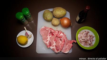Chuletas de cerdo al horno - ingredientes