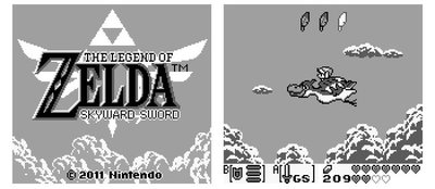 ¿Cómo sería 'The Legend of Zelda: Skyward Sword' en Gameboy?