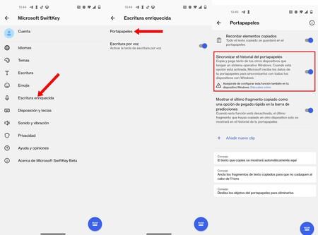 Swiftkey Portapapeles Windows Android