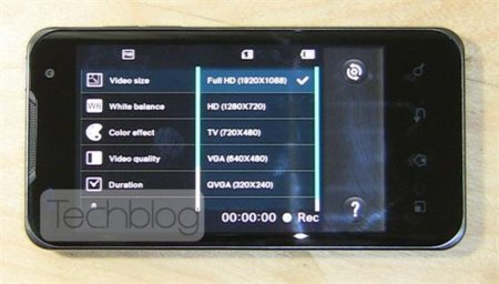 LG Optimus 2X nos muestra que puede grabar vídeos en formato 1080p