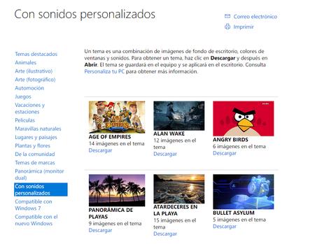 Temas De Escritorio Con Sonidos Personalizados Windows