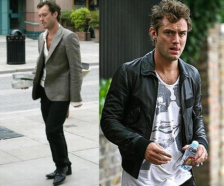 Jude Law estilo americana y cuero