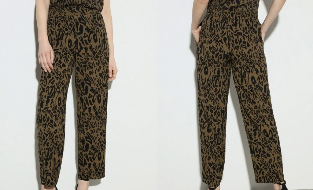 Pantalón fluido de mujer animal print