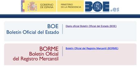 Validación de firma en BOE y BORME