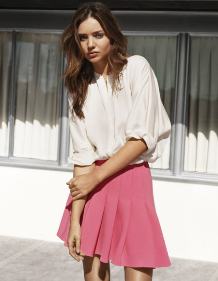 Miranda Kerr ya posa como nueva imagen de H&M para la primavera