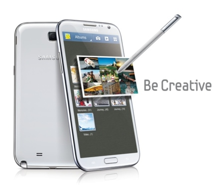 Samsung Galaxy Note 2 creativo