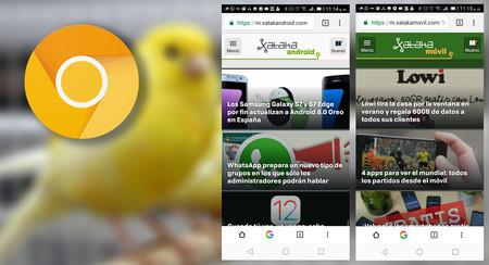 Así puedes probar la nueva barra de herramientas inferior de Chrome