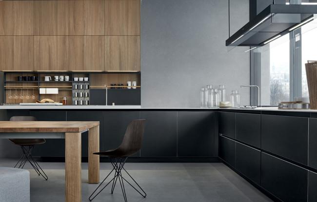 Madera y negro en la cocina: 18 ideas para una combinación ganadora