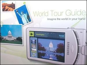 Samsung World Tour Guide en las cámara de fotografía digital