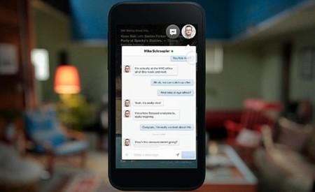 Mensajes en Facebook Home