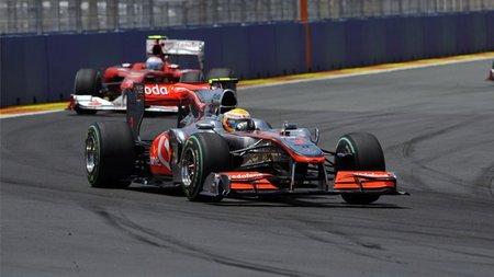 ¿Frenó Lewis Hamilton antes de cruzar la segunda línea de Safety Car para frenar a los Ferrari?