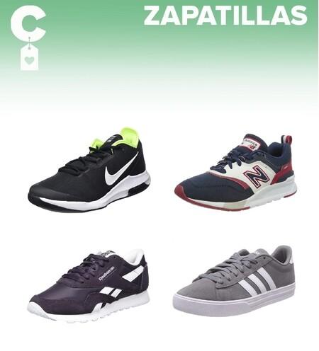 Chollos en tallas sueltas de  zapatillas Reebok, Nike, New Balance o Adidas por 40 euros o menos en Amazon