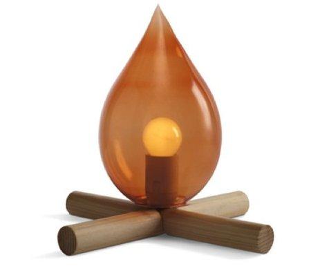 ¿Una lámpara de mesa o una pequeña hoguera?