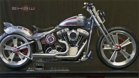 Shaw Harley Davidson Captain America Fat Boy construida en 7 minutos