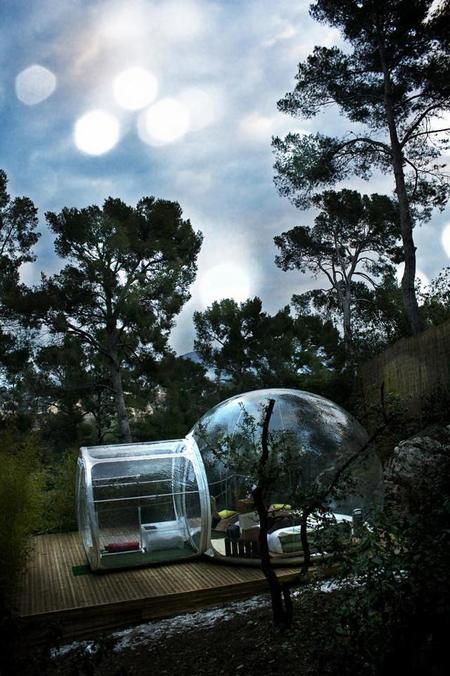 Burbujas cocoon para redescubrir el placer de la acampada ecológica