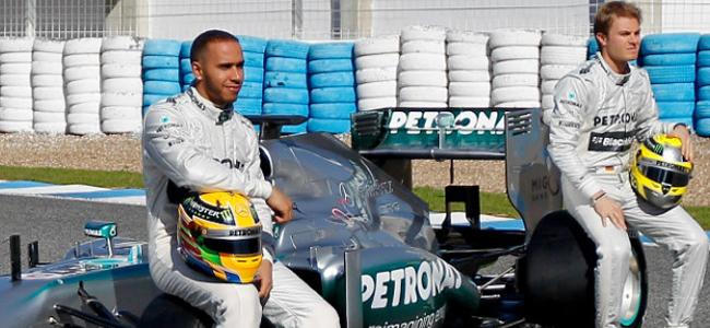 Prsentación Mercedes Hamilton Rosberg