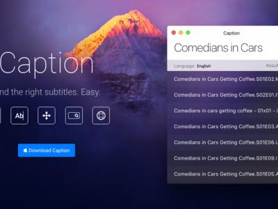 Caption simplifica la tarea mecánica de descargar subtítulos: App de la semana