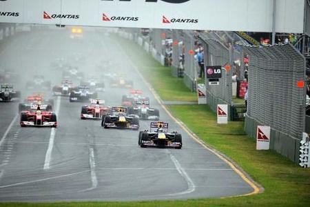 Salida del GP de Australia 2010
