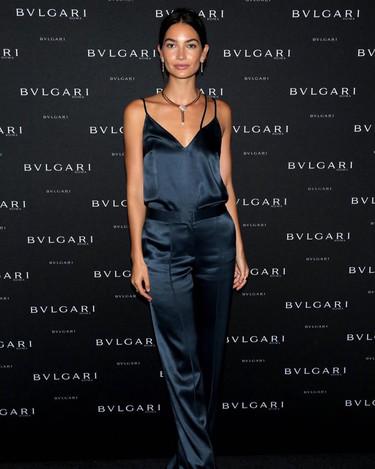 Lily Aldridge ejerce de anfitriona en el cóctel que ofreció Bvlgari en NY