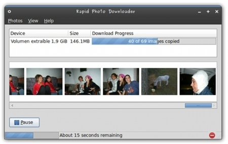 Rapid Photo Downloader: importador de fotos para GNU/Linux