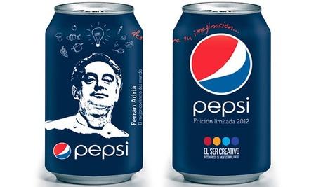La cara de Ferran Adrià en una serie limitada de latas de Pepsi