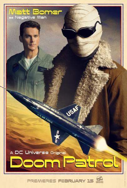 Doom Patrol Poster Negative Man 405x600