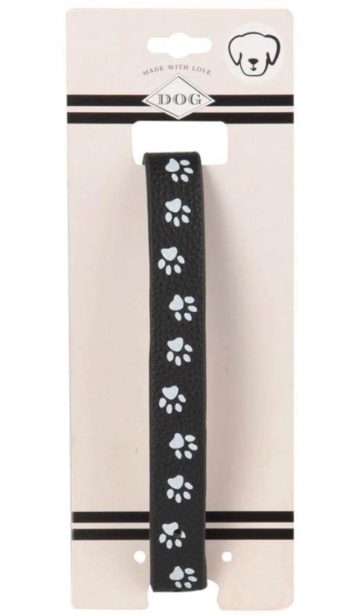 Collar negro y gris con estampado para perros