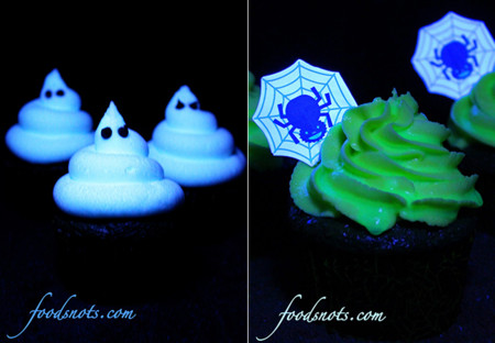 Halloween. Cupcakes que brillan