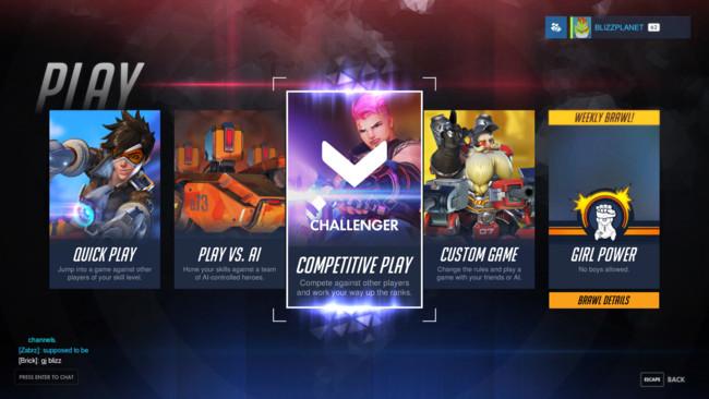 Overwatch Modo Competitivo