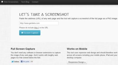 Captura páginas completas desde cualquier dispositivo con Web Screenshots y sin necesidad de extensiones