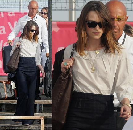 Más looks de Keira Knightley en Venecia