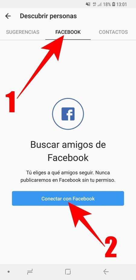 Instagram Conectar Con Facebook