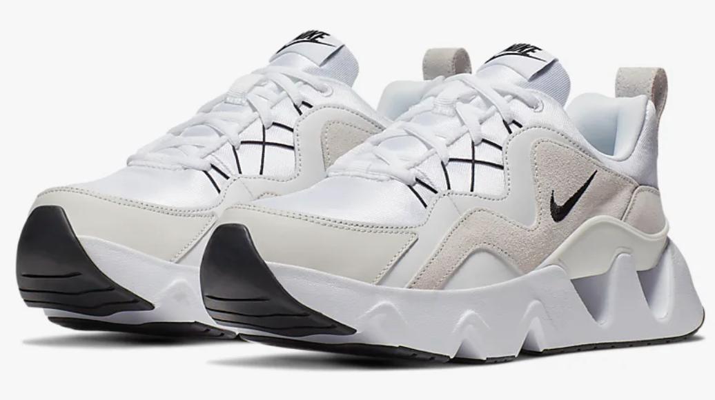 Las Nike RYZ 365 son esencialmente el sustituto robusto de las zapatillas Tekno. Cuentan con unas líneas de diseño atrevidas en la parte superior que añade un toque de irreverencia, al tiempo que las formas geométricas de la mediasuela proporcionan una mayor amortiguación.