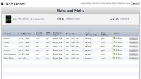 Apple iBookstore iPad libros electrónicos epub