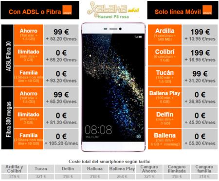 Precios Huawei P8 Con Tarifas Orange