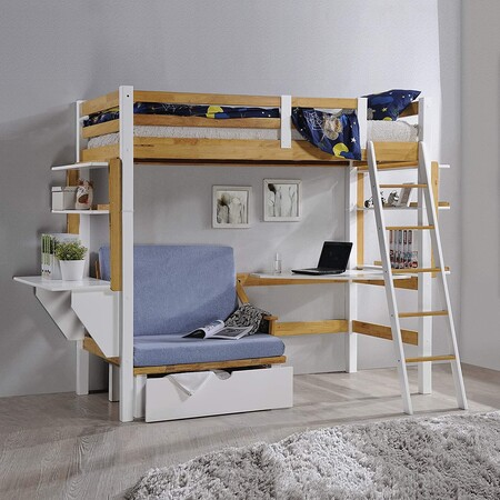 10 camas altas tipo loft para ahorrar espacio en dormitorios infantiles y juveniles